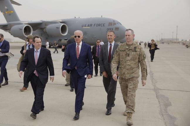 Joe Biden arrives in Baghdad