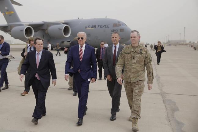 Joe Biden arrives in Baghdad